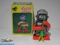 Vintage Robot Butler met opwind functie