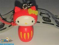 Hello Kitty Kokeshi Netsuke hanger Hello Kitty Daruma