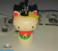 Hello Kitty Kokeshi Netsuke hanger Hello Kitty Manekineko