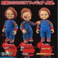 Child's Play Chucky gashapon set van 3 figuurtjes