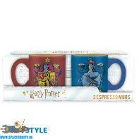 Harry Potter set van 2 espresso mokjes Gryffindor & Ravenclaw