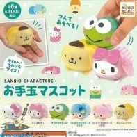 Hello Kitty / Sanrio characters gashapon set van 6 zachte figuurtjes