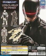Robocop real figure collection gashapon set van 4 figuurtjes