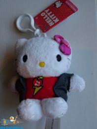 Hello Kitty pluche bag clip[ rock star Kitty 10 cm