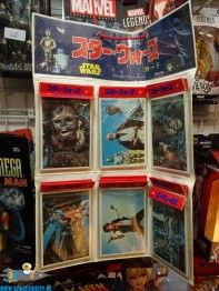 Star Wars vintage 1977 Topps large size trading cards store display
