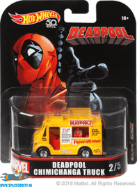 Marvel Hot Wheels die cast model Deadpool Chimichanga Truck