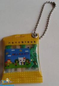 Hello Kitty keychain Nanoblock geel