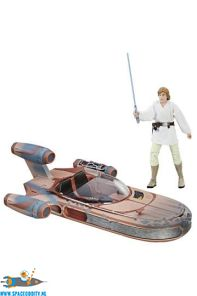Star Wars The Black Series Landspeeder & Luke Skywalker actiefiguur