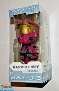 Halo 3 bobble head figuur Master Chief Pink Spartan 15 cm