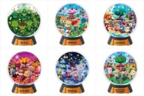 Animal Crossing New Leaf Snowglobe Gashapon set