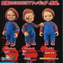 Child's Play Chucky gashapon set van 3 figuurtjes