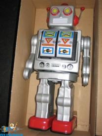 Electron Robot zilver met batterij functie