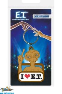 E.T. sleutelhanger I Love E.T. van rubber