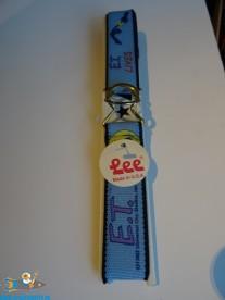 E.T. vintage Lee riem uit de jaren 80 (blauw)