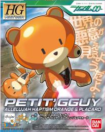 Gundam 00 Petit'GGuy Allelujah Haptism Orange & Placard