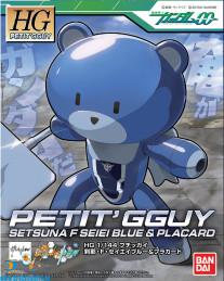 Gundam 00 Petit'GGuy Setsuna Seiei Blue & Placard