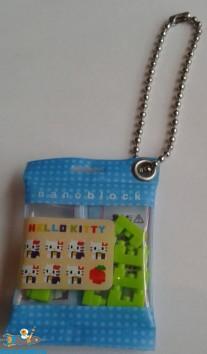 Hello Kitty keychain Nanoblock blauw