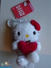 Hello Kitty pluche bag clip valentine Kitty 10 cm