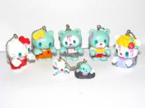 Hello Kitty Zombie Friends mascot keychain set