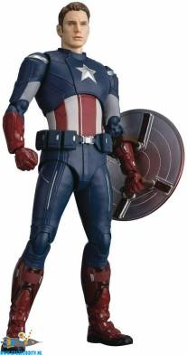 Marvel Avengers Endgame S.H.Figuarts Captain America Cap vs. Cap edition actiefiguur