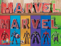 Marvel Cho Henkan!! Mojibakeru Transforming figure set van 6 figuurtjes
