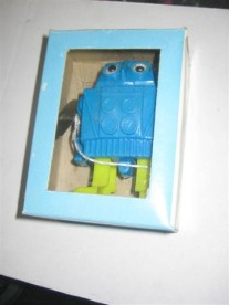Mechanical mini walking Robot ( blauw/groen )
