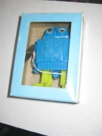 Mechanical mini walking Robot ( blauw/groen )