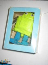 Mechanical mini walking Robot ( groen/blauw )