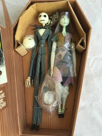 Nightmare Before Christmas Coffin doll set Jack & Sally