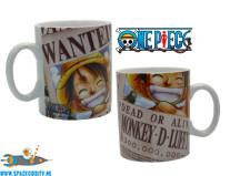 One Piece beker/mok Wanted Luffy
