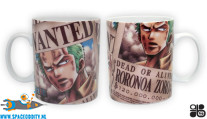 One Piece beker/mok Wanted Roronoa Zoro