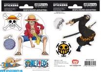 One Piece stickers Luffy & Trafalgar Law