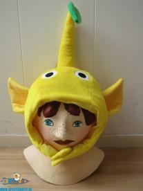 Pikmin Beanie / Muts geel met blaadje
