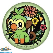 Pokemon button (paper badge) Grookey