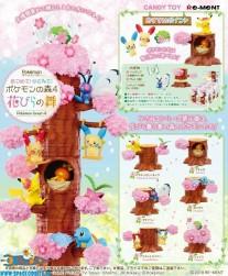 Pokemon Re-Ment Forest 4 Cherry Blossoms Sakura complete set van 6 verschillende doosjes