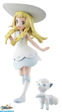 Pokemon G.E.M. series Lillie & Alola Vulpix pvc figuren