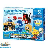 Pokemon Nanoblock deluxe set met Litten, Rowlet en Popplio