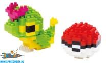 Pokemon Nanoblock NBPM 010 Caterpie & Monster Ball