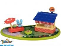 Pokemon Pitapoke PokaPoka Hot Spring mini playset met Froakie en Fletchling