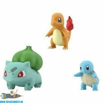 Pokemon Scale World Kanto figuren Bulbasaur , Squirtle & Charmander