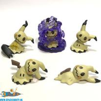 Pokemon Sun and Moon gashapon set van 5 Mimikyu figuurtjes