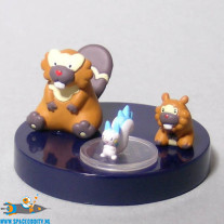 Pokemon zukan DP 10 Bidoof, Bibarel & Pachirisu