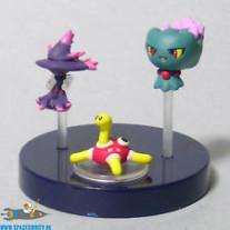Pokemon zukan DP 10 Misdreavus, Mismagius en Shuckle