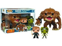 Pop! Star Wars bobble head Rancor with Luke Skywalker & Slave Oola