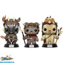 Pop! Star Wars bobble head Teebo, Chief Chirpa & Logray 3-pack