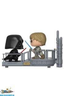 Pop! Star Wars movie moments bobble head Darth Vader and Luke Skywalker