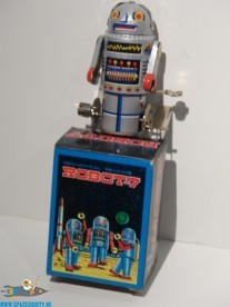 Robot-7 vintage 1980's tin toy