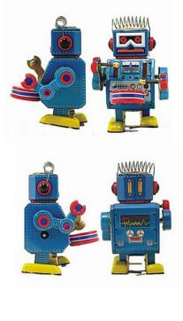 Robot MS 408 drummer met wind-up functie