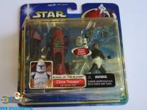 Star Wars actiefiguur Clone Trooper with Speeder Bike (ATOC)