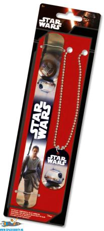 Star Wars BB-8 dog tag & Rey bracelet